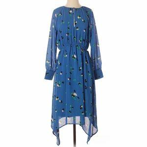 NWT H&M Keyhole Neck Abstract Print Midi Dress